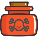 medical, skull, death, poison, dangerous, Poisonous, Healthcare And Medical Tomato icon