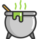 food, Cook, halloween, pot, Cauldron LightGray icon
