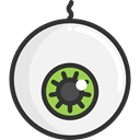 Eye, halloween, horror, Terror, spooky, scary, fear WhiteSmoke icon