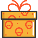 birthday, gift, present, surprise, halloween, Christmas Presents Goldenrod icon