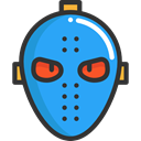 Mask, halloween, horror, Terror, spooky, scary, fear, Hockey Mask DodgerBlue icon