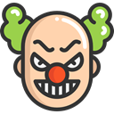 halloween, horror, Clown, Terror, spooky, scary, fear DarkSlateGray icon