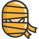scary, fear, halloween, mummy, horror, Terror, spooky Goldenrod icon
