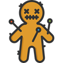 halloween, horror, Terror, spooky, scary, fear, Voodoo Doll Goldenrod icon