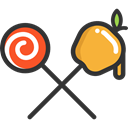 Lollipop, sweets, Candies, Food And Restaurant, food, Candy, sugar, Dessert Black icon