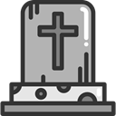 death, halloween, Stone, Cemetery, Rip, tomb, tombstone DarkGray icon