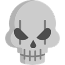 fear, skull, halloween, horror, Terror, spooky, scary LightGray icon