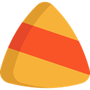 sweet, Cereal, Candies, autumn, Food And Restaurant, Candy Corn, food, Candy, fall, halloween, Dessert Goldenrod icon