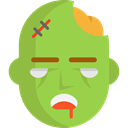 Avatar, halloween, horror, zombie, Terror, spooky, scary, fear YellowGreen icon