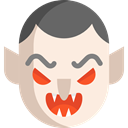 Avatar, halloween, Dracula, vampire, horror, Terror, spooky, scary, fear Linen icon