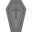 Box, cross, death, halloween, coffin DimGray icon