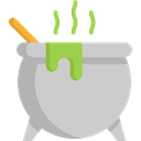 Cauldron, food, Cook, halloween, pot LightGray icon