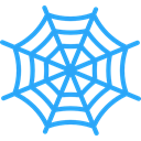 Spider Web, Trap, insect, halloween, Animals, cobweb DodgerBlue icon