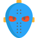 Terror, spooky, scary, fear, Hockey Mask, Mask, halloween, horror DodgerBlue icon