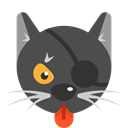 Superstition, halloween, Animals, Black cat, Superstitious, Cat DarkSlateGray icon