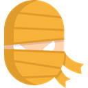 halloween, mummy, horror, Terror, spooky, scary, fear Goldenrod icon