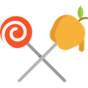 food, Candy, sugar, Dessert, Lollipop, sweets, Candies, Food And Restaurant Black icon