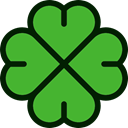 Flower, nature, flowers, Clover, petals, blossom, Botanical LimeGreen icon