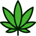 nature, Botanical, Cannabis, Drug Black icon