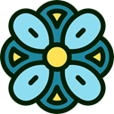 petals, blossom, Botanical, Flower, nature SkyBlue icon