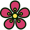 Flower, nature, petals, blossom, Botanical Icon