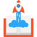 Rocket Launch, Seo And Web, Rocket, transport, startup, Space Ship, Rocket Ship, Space Ship Launch WhiteSmoke icon