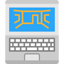 electronic, electronics, computing, Laptop, Computer, technology Icon
