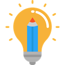 invention, Seo And Web, Idea, electricity, illumination, technology, Light bulb Goldenrod icon