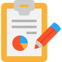 Tools And Utensils, Writing Tool, Seo And Web, Note, Notebook, notepad, Stats, interface, writing, Analytics WhiteSmoke icon