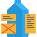 Design, Brick, tags, Seo And Web DodgerBlue icon