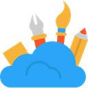 Cloud, graphic design, Edit Tools DodgerBlue icon
