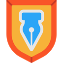 security, Protection, shield, weapons, defense Goldenrod icon