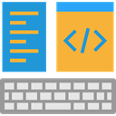 Multimedia, html, Computer, monitor, screen, web, interface, ui, Browser, Coding, website, web page Goldenrod icon