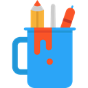 education, writing, pencil case, School Material, Office Material, Edit Tools, Seo And Web DodgerBlue icon