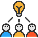 Idea, strategy, Business, interface, Brainstorm, brainstorming, think, Creativity, Business And Finance, Seo And Web Black icon