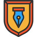 security, Protection, shield, weapons, defense DarkSlateGray icon