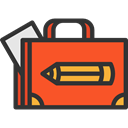 Bag, suitcase, portfolio, Seo And Web, Business, Briefcase DarkSlateGray icon