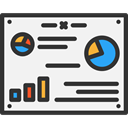 chart, Analytics, Analysis, Data Analytics, Pie Graphic, Business And Finance, Seo And Web WhiteSmoke icon