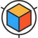 cube, modeling, graphic design, Graphic Tool, Edit Tools, Seo And Web DarkSlateGray icon