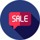 Message, sale, speech bubble, Commerce And Shopping DarkSlateBlue icon
