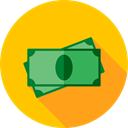 Notes, Business, Money, Cash, Currency, Commerce And Shopping Gold icon