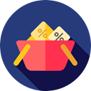 Shopping Store, Commerce And Shopping, commerce, shopping basket, Supermarket, online store DarkSlateBlue icon