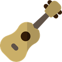 music, musical instrument, Orchestra, String Instrument, Ukelele, Music And Multimedia DarkKhaki icon