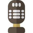 Microphone, radio, technology, sound, vintage, Voice Recording, Music And Multimedia Black icon