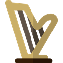 Music And Multimedia, Harp, musical instrument, Orchestra, String Instrument, music DarkKhaki icon