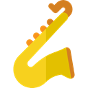 music, jazz, saxophone, musical instrument, sax, Wind Instrument, Music And Multimedia Gold icon
