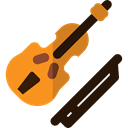 Music And Multimedia, music, Violin, musical instrument, Orchestra, String Instrument Black icon