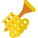 music, jazz, Trumpet, musical instrument, Wind Instrument, Orchestra, Music And Multimedia Gold icon