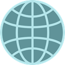 Geography, worldwide, Maps And Flags, Planet Earth, Earth Globe, World Grid CadetBlue icon