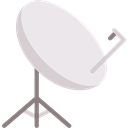 technology, Parabolic, Wireless Connectivity, signal, Satellite Dish, Radio Antenna Lavender icon